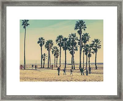 Stroll Down Venice Beach Framed Print