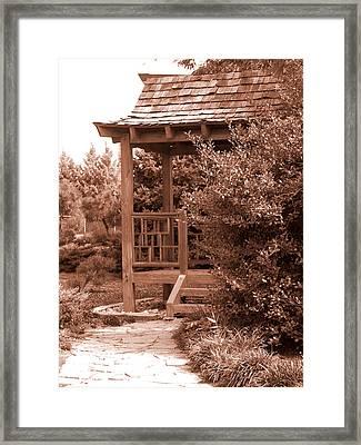 Stroll Garden 2 Framed Print by Audrey Venute