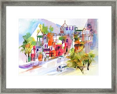 Stroll In Montreal Framed Print