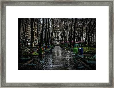 Stroll In The Park  Framed Print by Luis Rosario