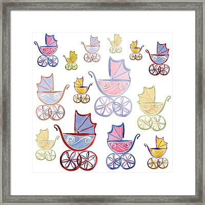 Stroll In The Park Framed Print by Sarah Hough