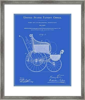 Stroller Patent - Blueprint Framed Print
