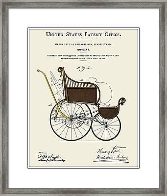 Stroller Patent Framed Print