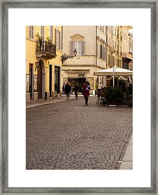 Strolling About Parma Framed Print by Rae Tucker