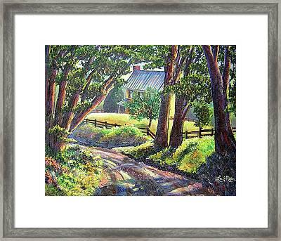 Strolling Down Old Rapidan Road Series Framed Print