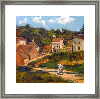 Strolling On The Lane Framed Print