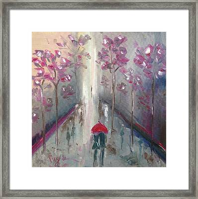 Strolling Framed Print by Roxy Rich