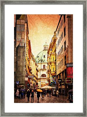 A Rainy Day In Vienna Framed Print