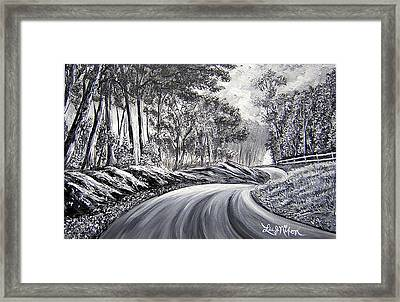 Strollling Down Old Rapidan Road Framed Print