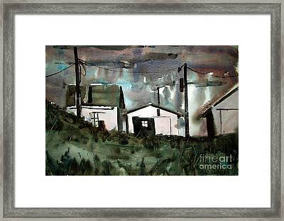 Strom In The Window Framed Matted Glassed Framed Print by Charlie Spear