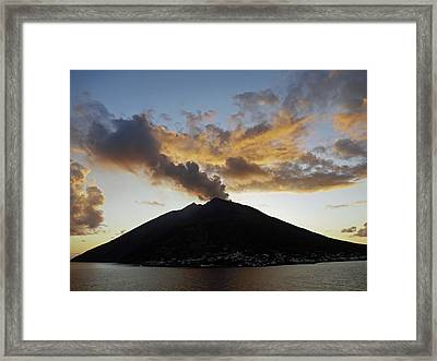 Stromboli - Lighthouse Of The Mediterranean Framed Print by Robert Shard