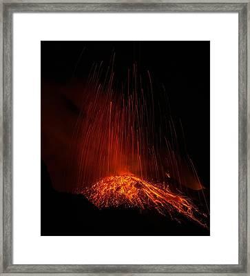 Stromboli Framed Print