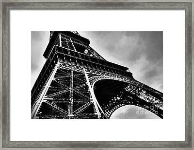 Strong As Steel In Paris Framed Print by Mel Steinhauer