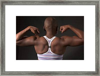 Strong Black Woman Framed Print
