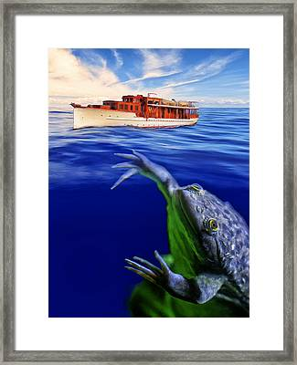 Strong Cross Currents And A Vicious Undertoad Framed Print