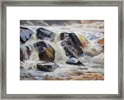Strong Falls Plein Air Demo Framed Print by Larry Seiler