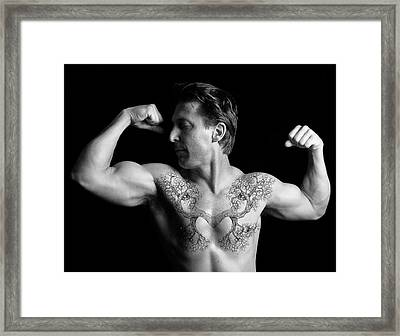 Strong Growing Heart Framed Print