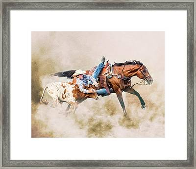 Strong Hearts And Fast Horses Framed Print