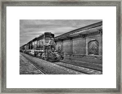 Strong Iron Locomotive 1637 Norfolk Southern Framed Print by Reid Callaway