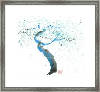 Strong Wind Framed Print by Mui-Joo Wee