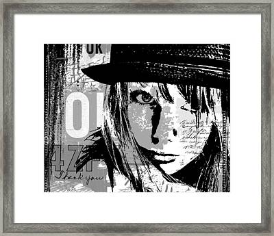 Stronger In Black Framed Print