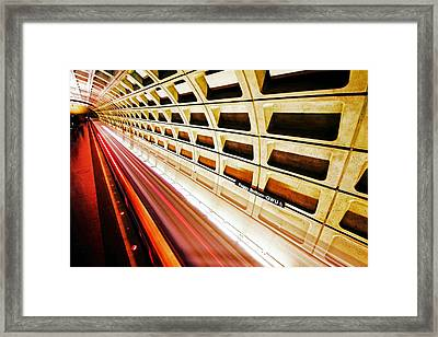 Stronger In The Contrast Framed Print by Mitch Cat