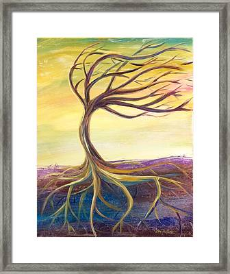Framed Print featuring the painting Stronger by Lisa DuBois