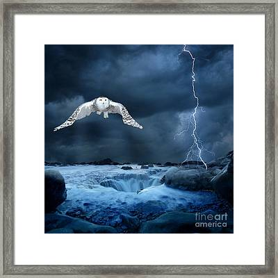 Stronger Than The Storm Framed Print by Heather King