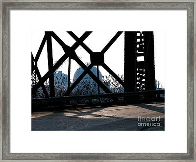 Structural Members Framed Print by Donna Stewart