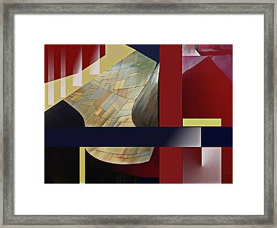Structure 0217 Framed Print by Walter Fahmy