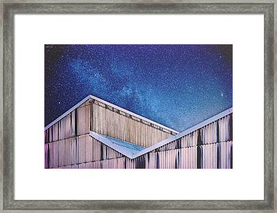 Structure And Stars Framed Print