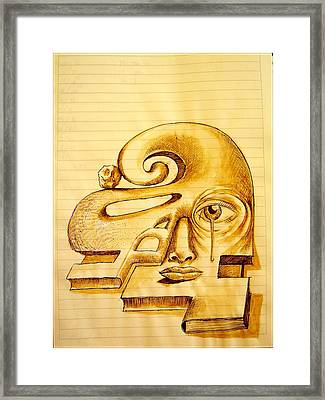Structure Of Thought Framed Print by Paulo Zerbato