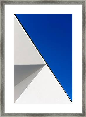 Structured Illusion Framed Print by Joao Custodio