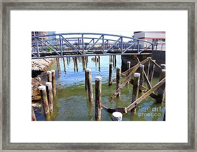 Framed Print featuring the photograph Structures by Bill Thomson