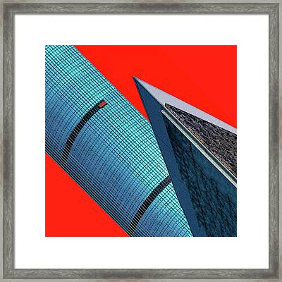 Structures Tilted 2 Framed Print by Bruce Iorio