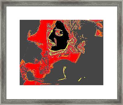 Struggle Framed Print by Cletis Stump