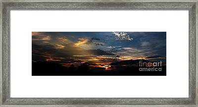 Struggling Sun Framed Print by James F Towne
