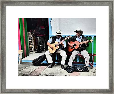 Strummin' Framed Print by Michael Cook