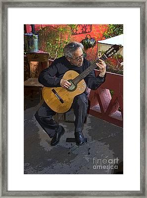 Strummin' My Six-string Framed Print