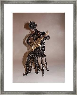 Strummin' The Blues Framed Print by Charlene White