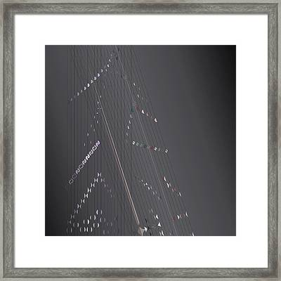 Strung Art Framed Print