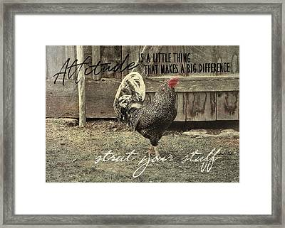 Strut Quote Framed Print by JAMART Photography