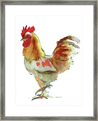 Framed Print featuring the painting Strut Your Stuff 4 by Kathy Braud