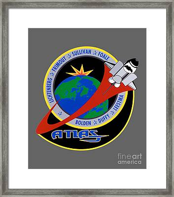 Sts-45 Patch  Framed Print