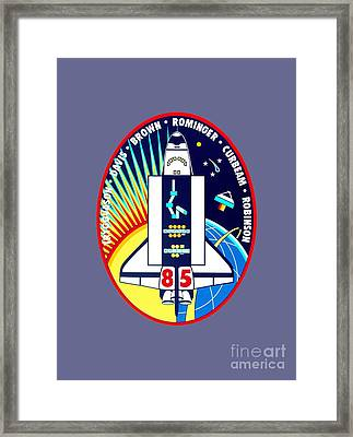 Sts-85 Insignia Framed Print