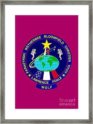 Sts-86-patch Framed Print
