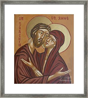 Framed Print featuring the painting Saints Joachim And Anna by Olimpia - Hinamatsuri Barbu