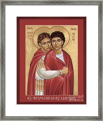 Sts. Polyeuct And Nearchus - Rlpan Framed Print