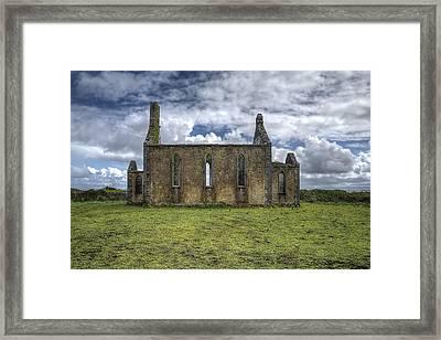 Stthomas Church In Aran Islands, Inis Mor Framed Print by Enrico Pelos