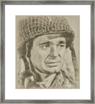 Stuart Whitman Hollywood Actor Framed Print by Frank Falcon